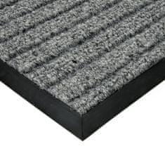 FLOMAT Šedá textilní zátěžová čistící vnitřní vstupní rohož Shakira, FLOMAT - 1,6 cm