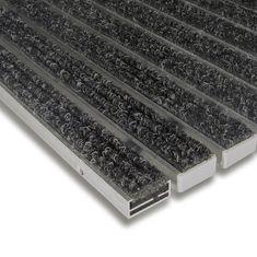 FLOMA Textilní hliníková vnitřní vstupní rohož Alu Standard, FLOMA - 1,7 cm