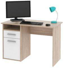 Kancelářský psací stůl BAYLOR, dub sonoma/bílá