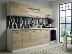 Kuchyně GAVIN, 200/260 cm, dub sonoma