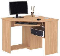 Praktický PC stůl rohový SMART 1, buk