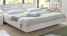 ABRUKA, postel 180x200 cm, bílý dub
