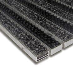 FLOMA Textilní hliníková kartáčová vnitřní vstupní rohož Alu Extra, FLOMA - 1,7 cm