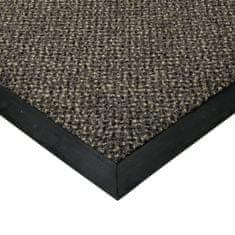 FLOMAT Šedá textilní čistící vnitřní vstupní rohož Cleopatra Extra, FLOMAT (Bfl-S1) - 1 cm