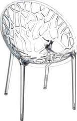 Mørtens Furniture Jedálenská stolička Rolly, transparentná