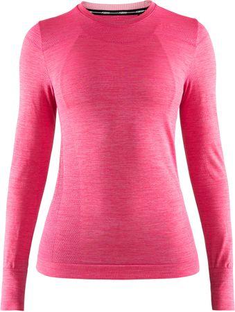 Craft Fuseknit Comfort LS ženska majica z dolgimi rokavi, roza, S