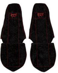 F-CORE Poťahy na sedadlá CS05 RD, čierne