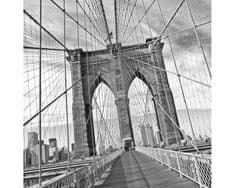Fototapeta L-5510-SK Brooklyn most - čiernobiely 220 x 220 cm