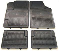 POLGUM Gumové koberce, univerzálne, 4 ks, čierne, rozmer: 69,5x49 a 34,5x44 cm