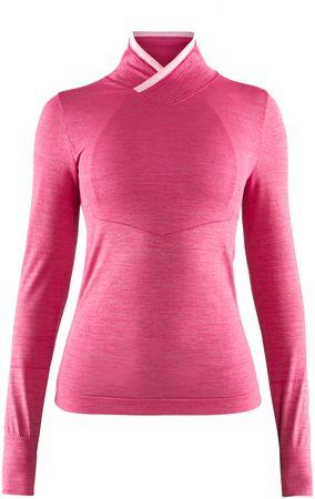 Craft ženska majica z dolgimi rokavi Fuseknit Comfort W, roza, XS