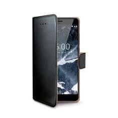 Celly Pouzdro typu kniha pro Nokia 5.1/Nokia 5 (2018), PU kůže, černé WALLY765