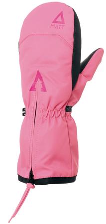 Matt rękawiczki dziewczęce DOO ZIPPER RS, 104/110 różowe
