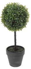 Koopman Buxus na kmínku v květináči, 40 cm, šedá