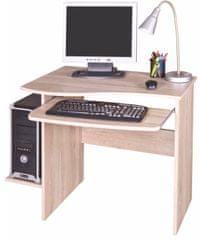 PC stůl s výsuvnou deskou ELIJAH, dub sonoma