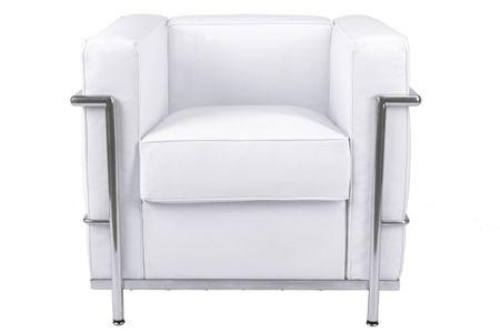Mørtens Furniture Křeslo s kovovu konstrukcí Corella, bílá