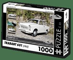 RETRO-AUTA© Puzzle č. 23 - TRABANT 601 (1965) 1000 dílků