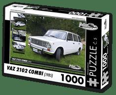 RETRO-AUTA© Puzzle č. 05 - VAZ 2102 COMBI (1985) 1000 dílků