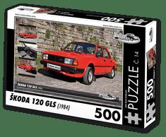 RETRO-AUTA© Puzzle č. 14 - ŠKODA 120 GLS (1984) 500 dílků