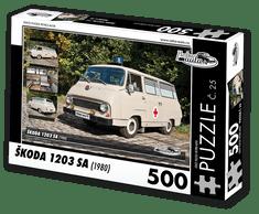 RETRO-AUTA© Puzzle č. 25 - ŠKODA 1203 SA (1980) 500 dílků