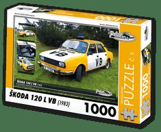 RETRO-AUTA© Puzzle č. 03 - ŠKODA 120L VB (1983) 1000 dílků