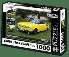 RETRO-AUTA© Puzzle č. 01 - ŠKODA 110R COUPE (1974) 1000 dílků