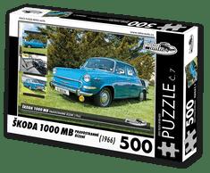 RETRO-AUTA© Puzzle č. 07 - ŠKODA 1000 MB (1966) pravostranné řízení 500 dílků