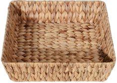 Koopman kvadratna košarica od vodenog hijacinta, 35 cm