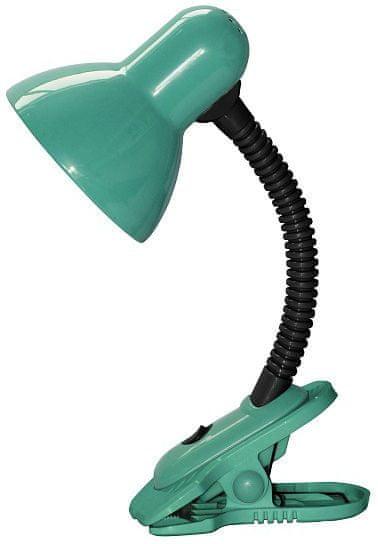 Rabalux Stolná lampa s klipom DENNIS, LED 40W, 230V zelená