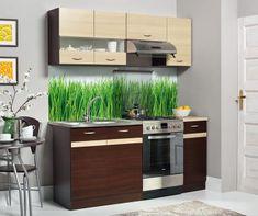 Kuchyně BELISA 120/180 cm, dub wenge/rijeka světlá