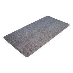Šedá bavlněná čistící vnitřní vstupní rohož - 75 cm a 0,4 cm