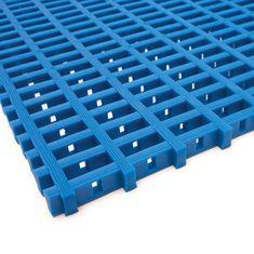 Modrá olejivzdorná protiskluzová průmyslová univerzální rohož (mřížka 22 x 10 mm) - 1,2 cm