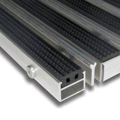 FLOMA Gumová hliníková kartáčová venkovní vstupní rohož Alu Extra, FLOMA - 2,7 cm