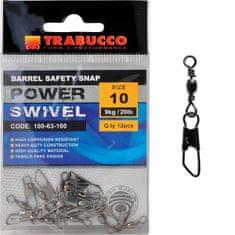Trabucco Obratlík s Karabinou Barbel Safety Snap 12 ks