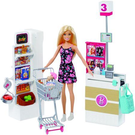 Mattel Barbie in igralni set Supermarket
