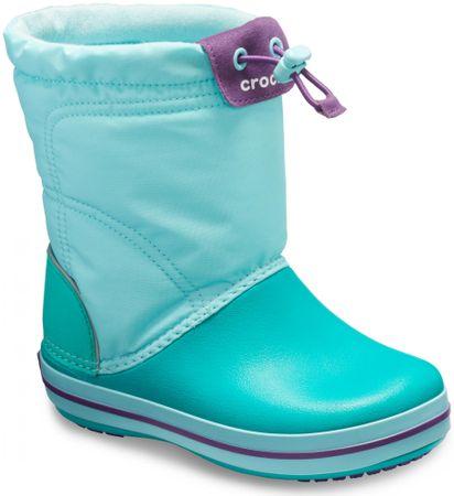 Crocs dječje čizme Crocband LodgePoint Boot Ice Blue/Tropical Teal, svjetlo plave, 30 - 31 (C13)