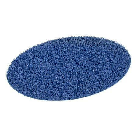 FLOMAT Modrá protiskluzová sprchová oválná rohož Spaghetti - 70 x 39,5 x 1,2 cm