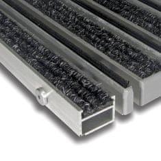 FLOMA Textilní hliníková kartáčová vnitřní vstupní rohož Alu Extra, FLOMA - 2,7 cm