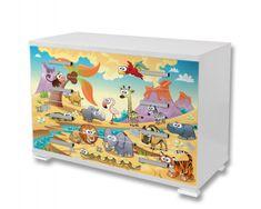 Dimex Nálepky na nábytok - Zvieratá na púšti, 85 x 125 cm