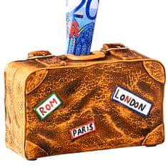 Papillon Pokladnička keramická Suitcase, 14 cm