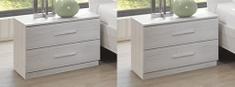 ABRUKA, noční stolek (2 ks ), bílý dub