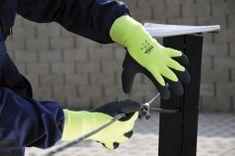 Červa Zimné pracovné rukavice Palawan Winter žltá 10