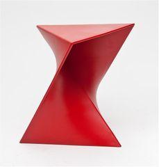 Mørtens Furniture Konferenční stolek Snett, 44 cm, červená
