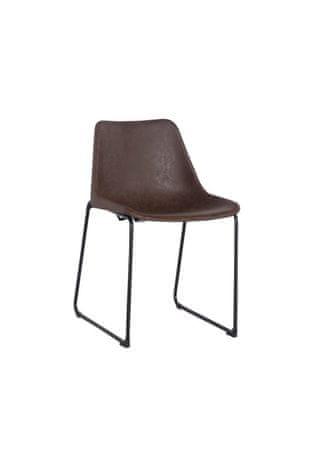 Mørtens Furniture Jídelní židle Britain, vintage hnědá