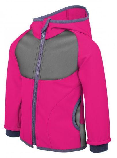 Unuo dívčí softshellová bunda Fuchcia 110/116 růžová