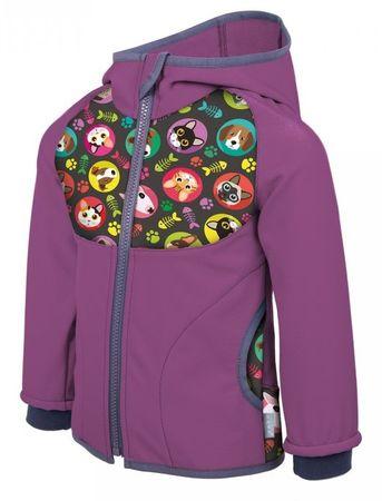 Unuo dekliška softshell jakna, Mačka-Pes, 68 - 74, vijolična