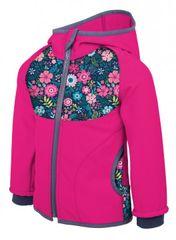Unuo dječja softshell jakna, cvjetni uzorak