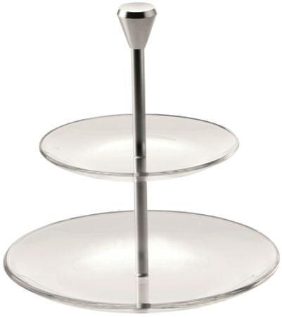 Vidivi FULL MOON emeletes tányér, 2 szintes, 15/21 cm