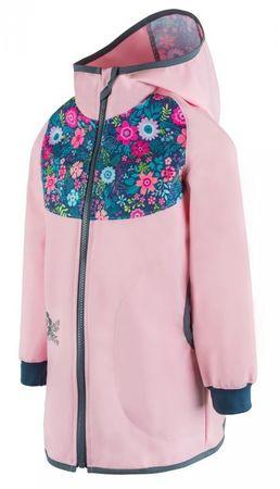 Unuo jakna za djevojčice, cvjetna, 116/122, roza