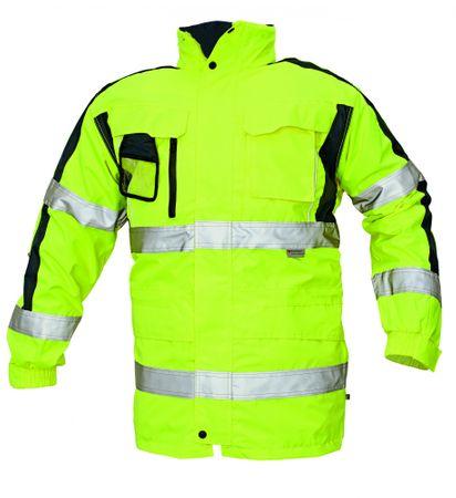Červa Zimná nepremokavá bunda Tripura 3v1 reflexná žltá S