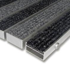FLOMAT Textilní hliníková vnitřní vstupní rohož Alu Wide, FLOMAT - 2,2 cm